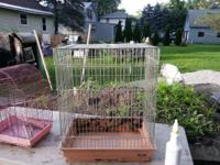 "2 BIRD CAGES FOR SALE   1- 18""W X 22""H X 12""D = $10"