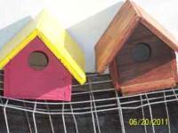 Bird House's, reg Bird House & Wren House's $5.00 & up