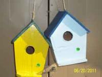 Bird House,s, Blue Bird house,s $10.00, Wren House's