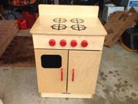 Nice wooden toy child's play stove. $30 or best offer