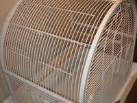 This attractive white bird cage is perfect for one or
