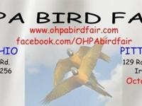 Largest Bird Fair in Pittsburgh!!! A huge selection of