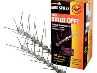 Bird-X Stainless-Steel Bird Spikes Kit is a humane way
