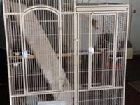 Large Double cage easy access to all feed doors . Play