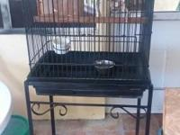 Bird Cage, with 3 Perches (2 regular and 1 specialty