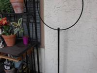 For sale is a Bird cage pedestal stand with a hook