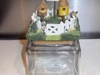 Birdhouse leading candle container. Hand Made in Maine,