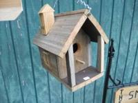 I make very well built birdhouses. Made from red cedar