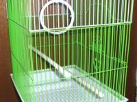 Cage for smaller bird like canary or finch, new. I also