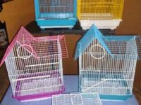 Medium size new cages for smaller birds, complete with