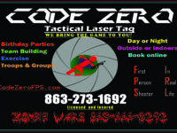 . Tactical Laser Tag- Ages 8+.  Host a Birthday
