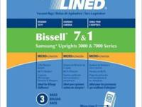 Bissell vacuum bags 1-7 Bissell belts Bissell repairs.