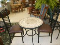 Even though it is cold outside, this bistro set would