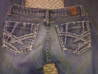 new jeans. worn once. no rips/tears or stains. size 25
