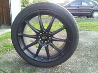 Black 18x8 5x100 225/40/18 Rota tarmac 2s with federal