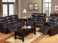 Rich and vivid colors of black bonded leather, this