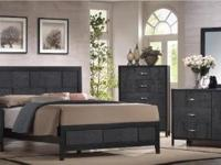Awesome 5-piece black bedroom set. Set includes: Queen
