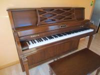 This Baldwin Acrosonic piano has a clear, bright tone.