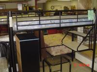 NEW ARRIVALS WE HAVE ONE BLACK ALL METAL LOFT BED