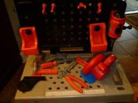 Black and Decker Tool Bench with some tools and