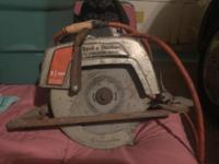 Used B&D circular saw. Cord was accidentally damaged