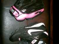 Size 8 1/2 women's Nike softball shoes. New. Black and