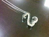 Black and White Diamond Open Heart by Jane Seymourr