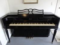 Black Baldwin Acrosonic Piano with matching bench