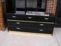 black bedroom suite $195.00 dresser mirror nightstand 2