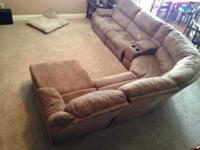 Microfiber sectional couch for sale. We paid $2300 for