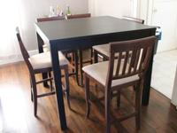 Selling gently made use of black coffee shop table (all