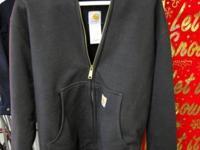 Black Carhartt Full-Zip Thermal Lined Hooded Sweatshirt