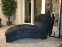 Chaise Lounge-Black Fabric-Signature Design Brand-Very