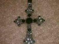 Black clip on cross charm 10.00 call or text  Location: