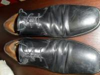 Two pair of Cole Haan dress shoes. First pair is size