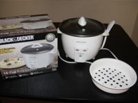 Black&Decker 14 cup rice cooker, with Spatula,