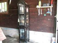 VERY VERY NICE CURIO CABINET WITH 2 DOORS 6 SHELVES