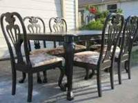 Oak dining table richardson brothers 6 chairs 2 leaf - Richardson brothers bedroom furniture ...