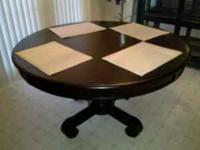 I have a nice black dining table, with leaf, not shown