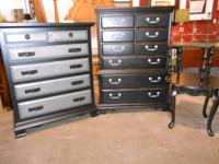 Two tone beautiful dresser and quality, sturdy Highboy