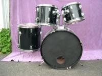 "Pearl-Style drum set w/22"" bass drum, 8x12"" and 9x13"""