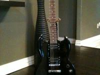 I'm selling my black electric guitar for $150. It comes