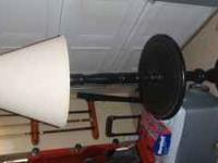 Black floor lamp. very nice shape and solidly built.