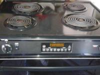 BLACK GE STOVE/OVEN aelf cleaning electric $125. Works