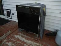 Good running black utilized dishwasher. About 10 years