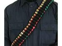 one piece 55 shotgun shell bandolier by Blackhawk $15