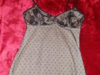 BLACK LACE CAMISOLE WITH TAN REVERSE BY SKWEEZ COUTURE