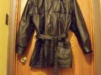 Wilson's brand leather jacket with zip out Thinsulate