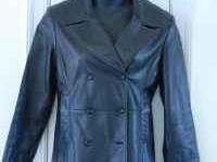 BLACK LEATHER COLEBROOK JACKET WOMEN'S SZ SMALL (RETAIL