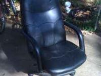 Office chair used about two years. No stains or tears.